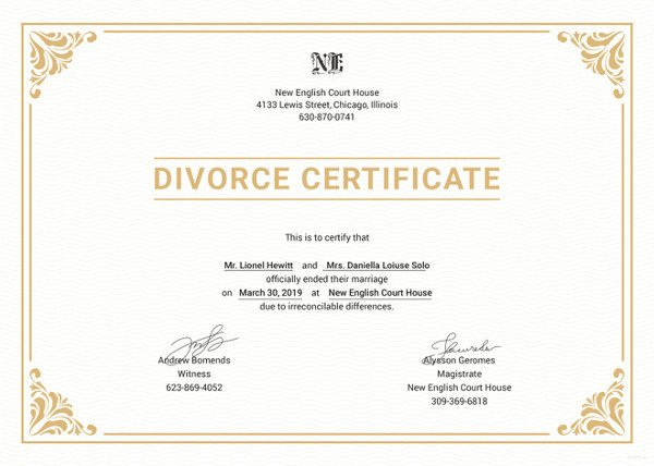 Translation Of Divorce Certificate Template Divorce Certificate Translation In Australia Naati