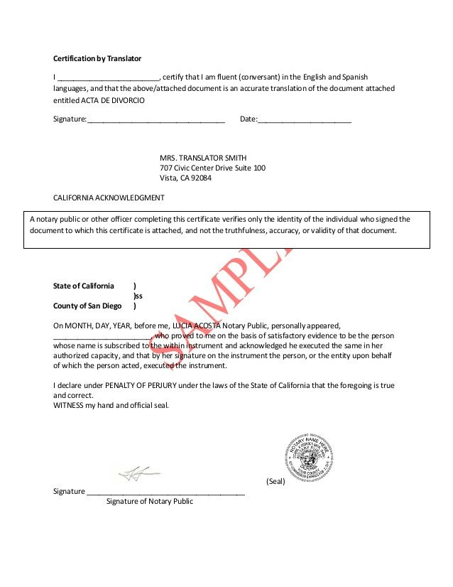 Translation Of Divorce Certificate Template Divorce Decree Translation Pdf