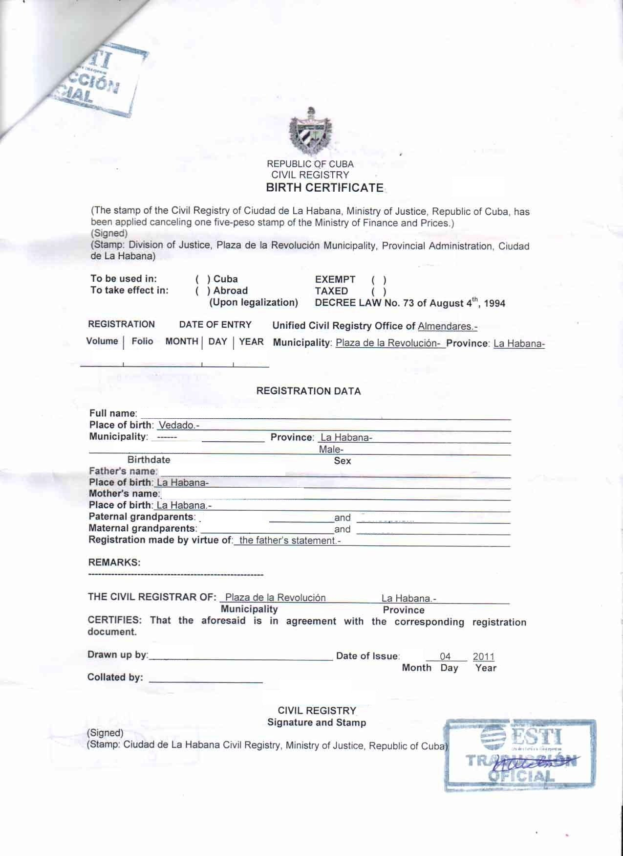 Translation Of Divorce Certificate Template Outsource Spanish Translation to Outsource2india