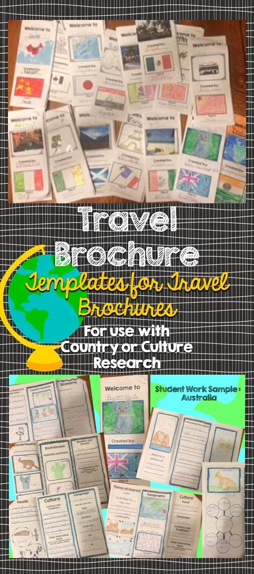 Travel Brochure Template for Students 25 Best Ideas About Travel Brochure Template On Pinterest