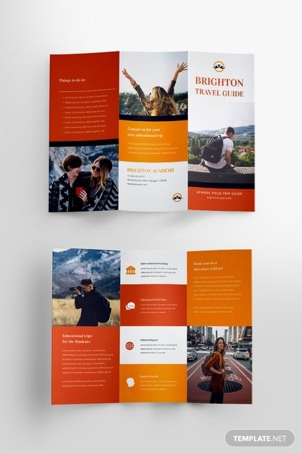 Travel Brochure Template for Students Free Brochure Templates Download Ready Made