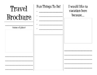 Travel Brochure Template for Students social Studies Travel Brochure Template Students Pretend