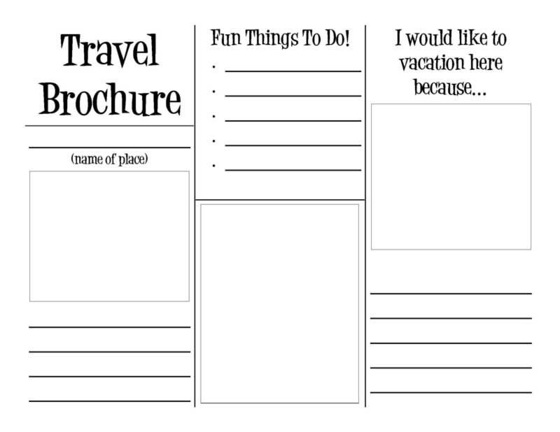 Travel Brochure Template for Students Travel Brochure Template for Students