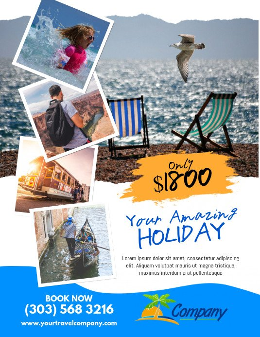 Travel Flyer Template Free Holiday Travel Flyer Template