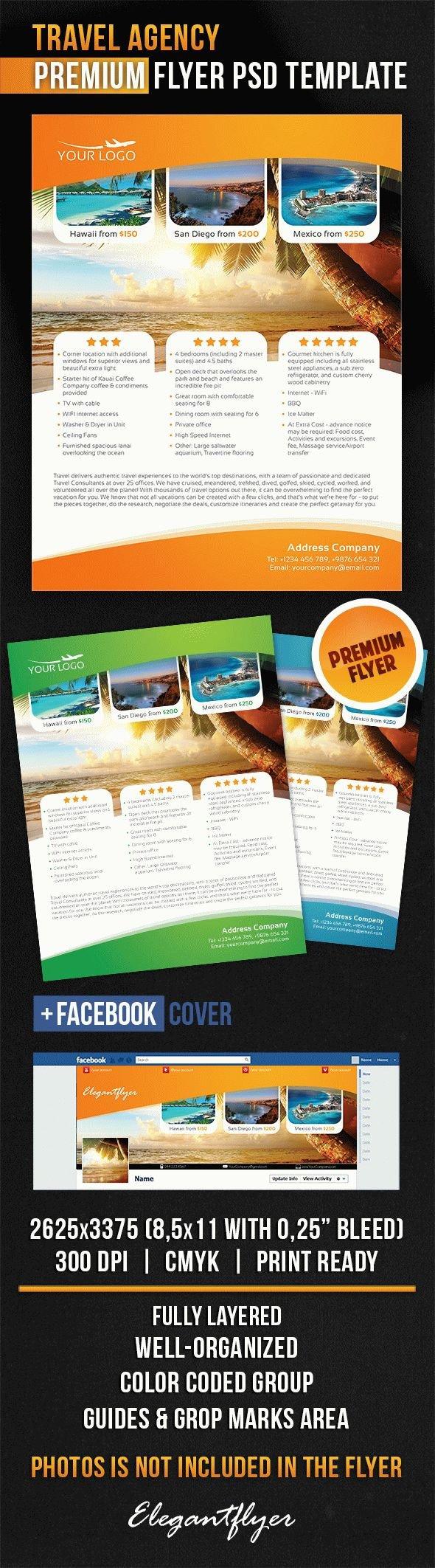 Travel Flyer Template Free Travel Agency – Flyer Psd Template – by Elegantflyer