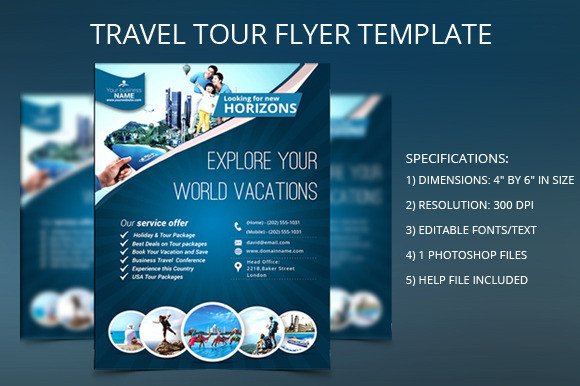 Travel Flyer Template Free Travel Flyer Free Template Designtube Creative Design