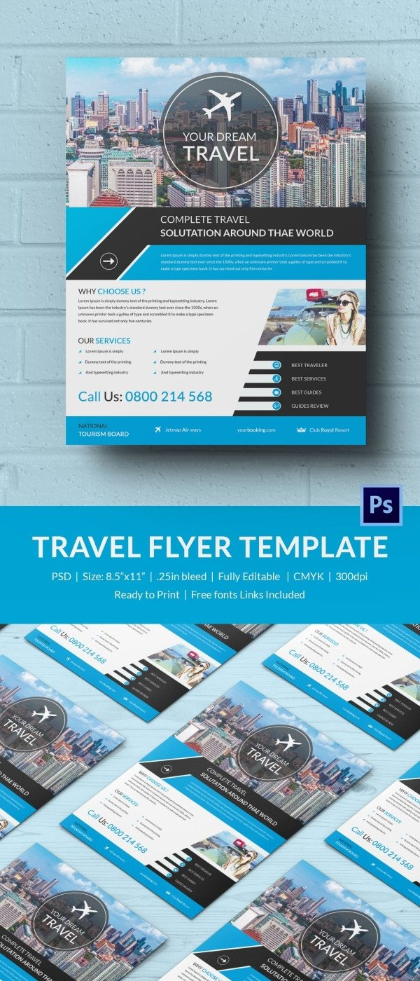 Travel Flyer Template Free Travel Flyer Template 43 Free Psd Ai Vector Eps