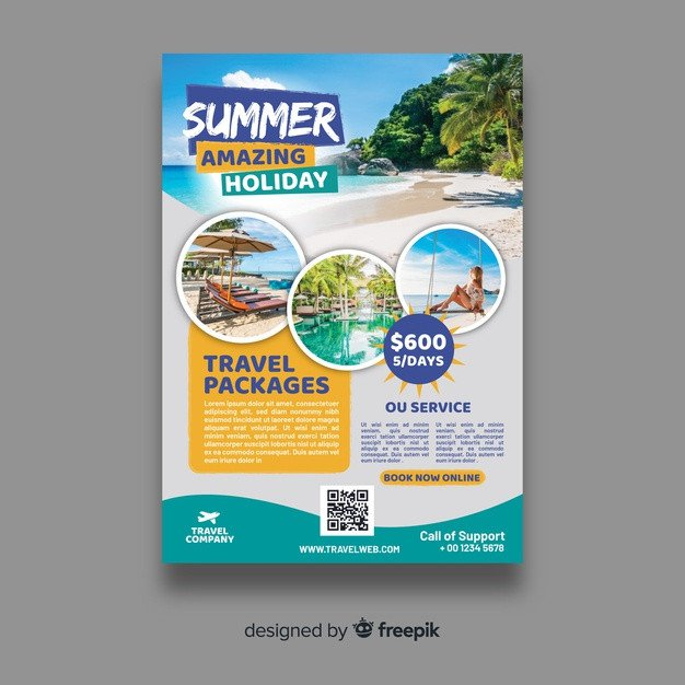 Travel Flyer Template Free Travel Flyer Vectors S and Psd Files