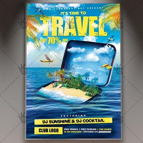 Travel Flyer Template Free Travel Premium Flyer Psd Template