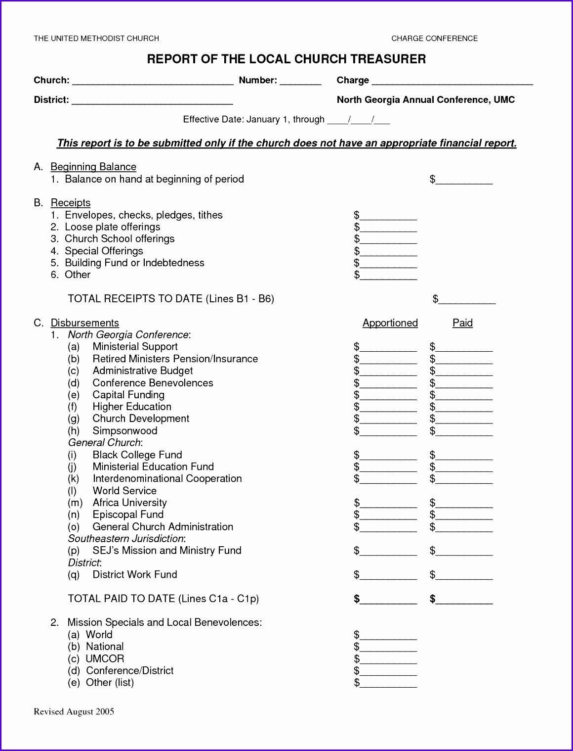 Treasurer Report Template Excel 8 Treasurer Report Template Excel Exceltemplates