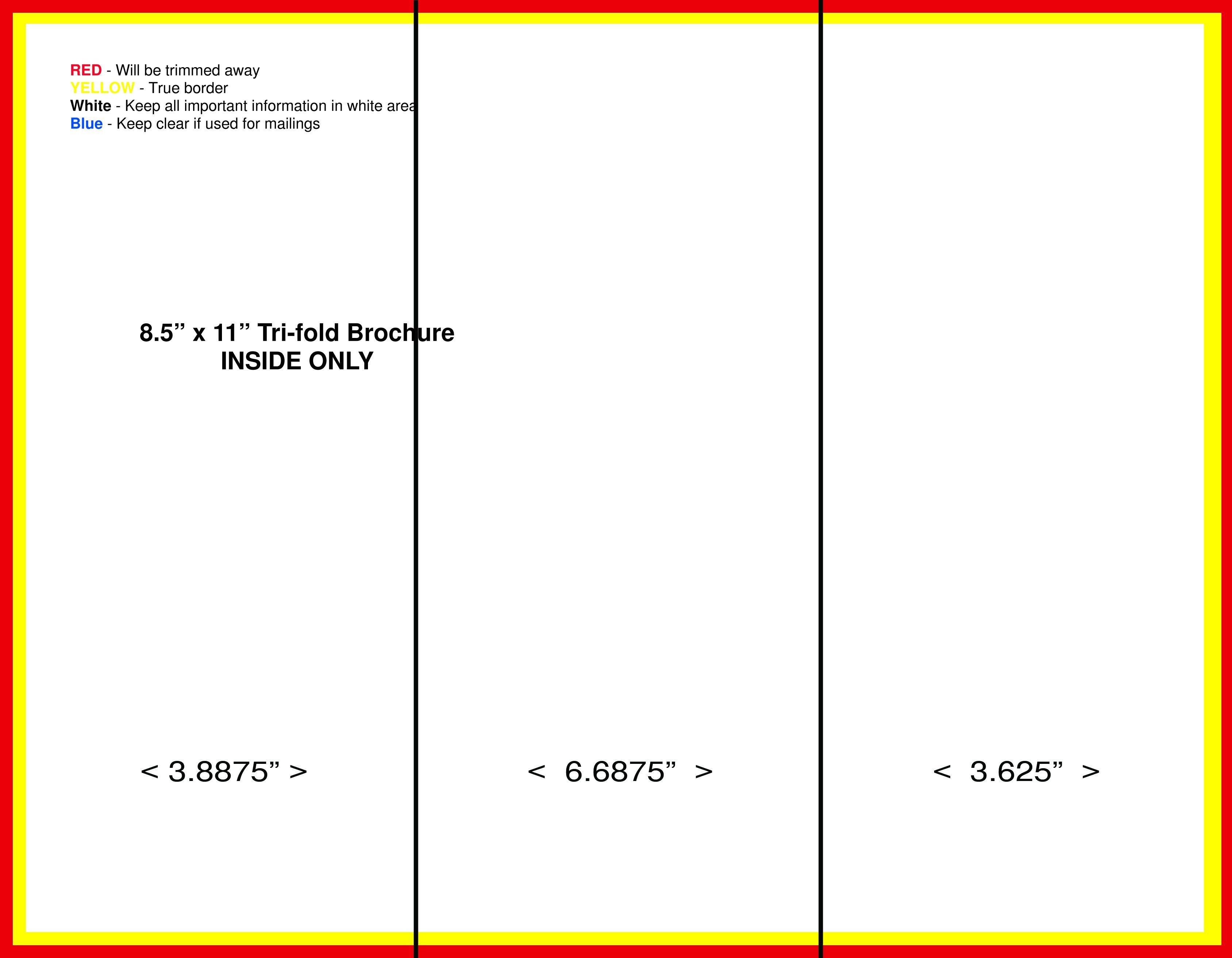 Tri Fold Brochure Template Free Blank Tri Fold Brochure Template Free Download