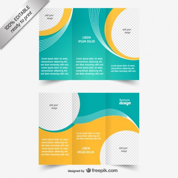 Tri Fold Brochure Template Free Vector Tri Fold Brochure Template Vector