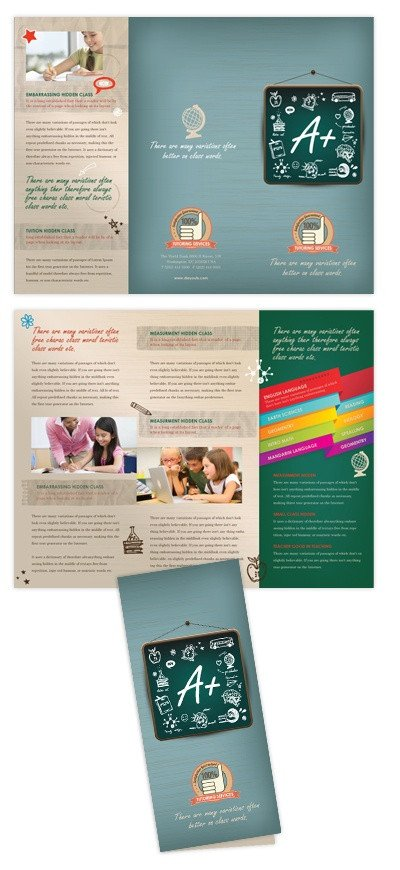 Tri Fold Brochure Template Illustrator 1000 Images About Tutoring On Pinterest