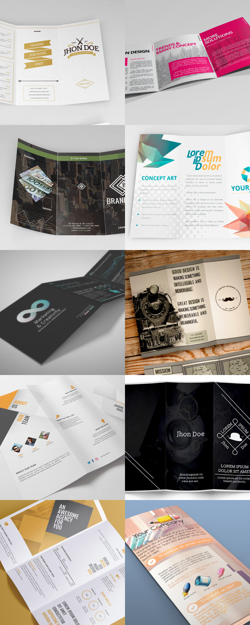 Tri Fold Brochure Template Illustrator 25 Editable Illustrator Tri Fold Brochure Templates