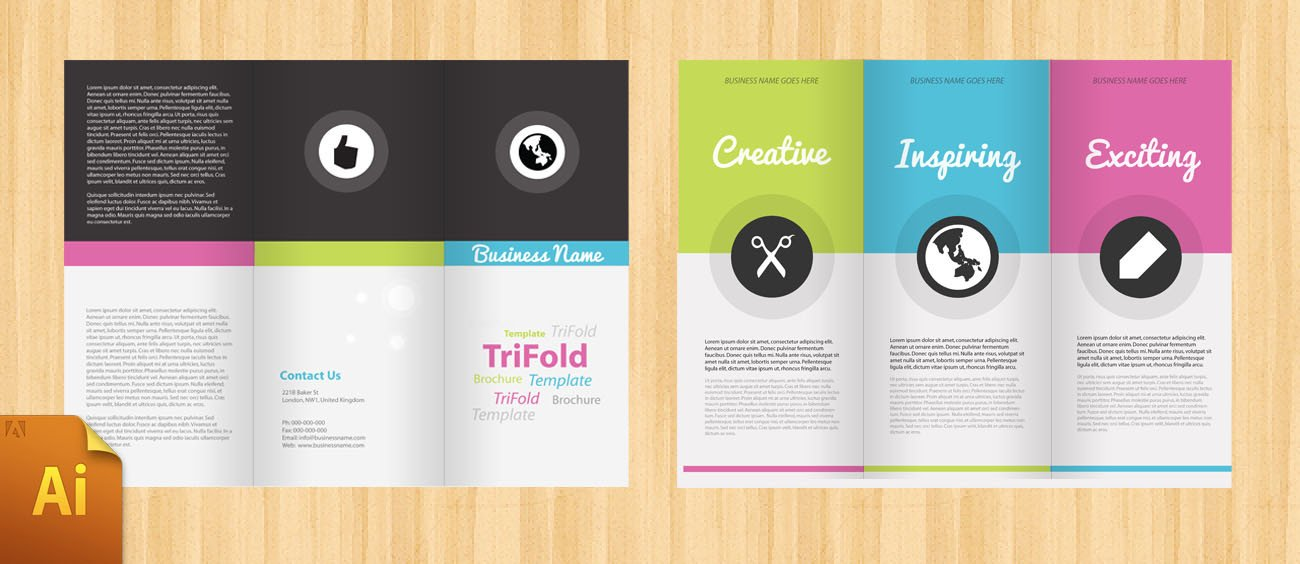 Tri Fold Brochure Template Illustrator Free Corporate Tri Fold Brochure Template Designbump