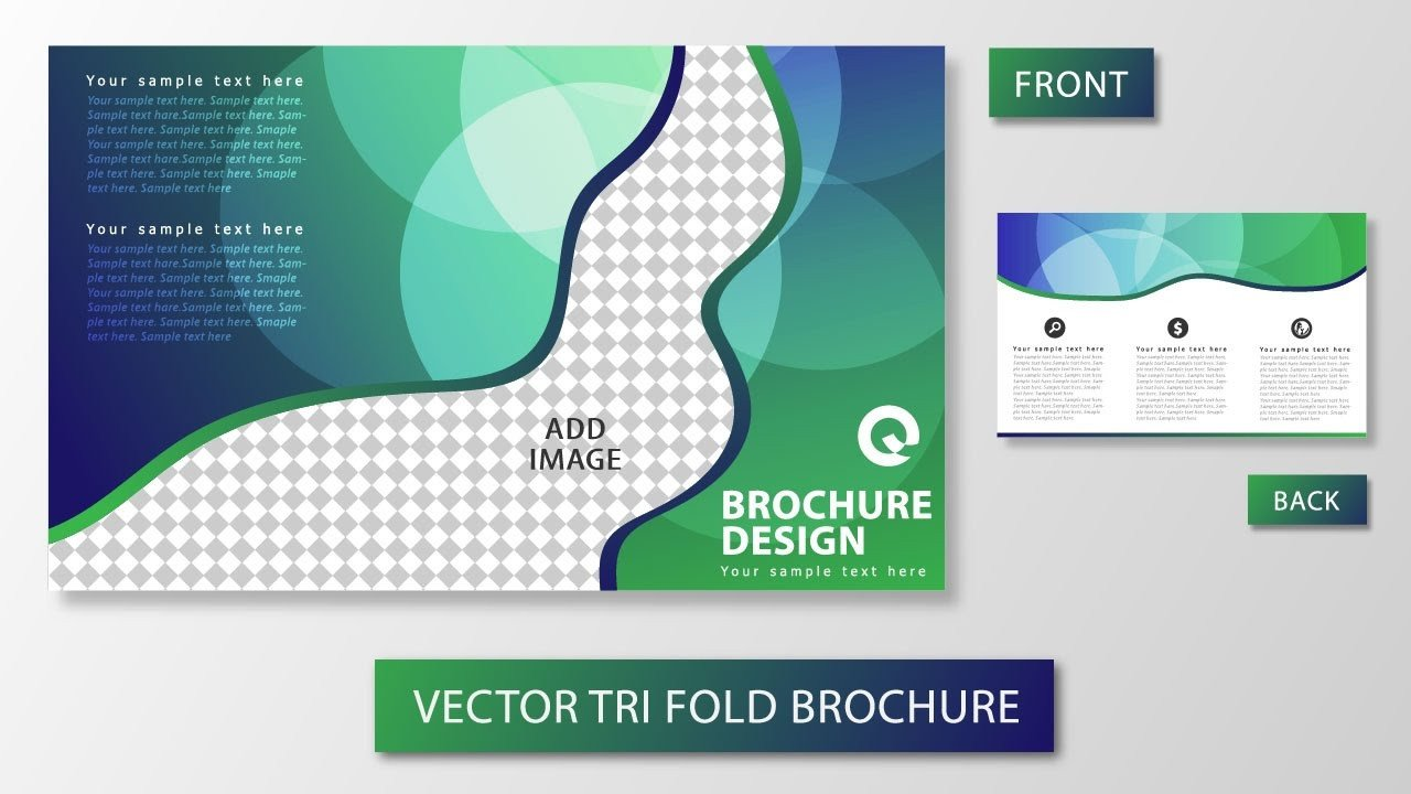 Tri Fold Brochure Template Illustrator Illustrator Tutorial Tri Fold Brochure Design