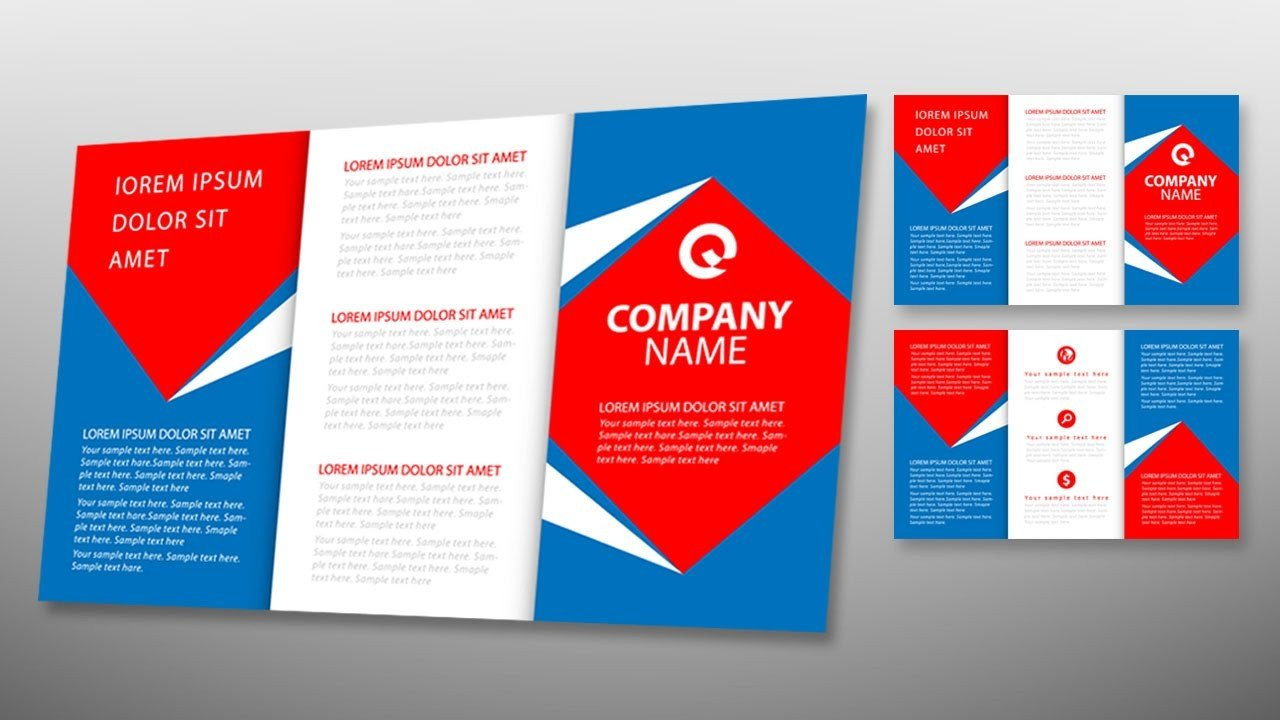 Tri Fold Brochure Template Illustrator Illustrator Tutorial Tri Fold Brochure Design Template