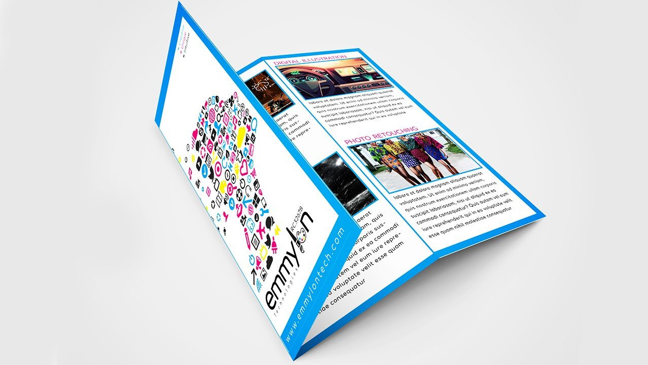 Tri Fold Brochure Template Illustrator Tri Fold Brochure Design Layout