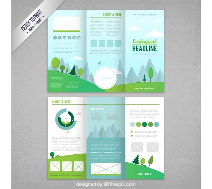 Tri Fold Brochure Template Illustrator Tri Fold Brochure Template 20 Free Easy to Customize Designs