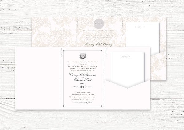 Tri Fold Invitation Templates 17 Tri Fold Wedding Invitation Templates Free & Premium