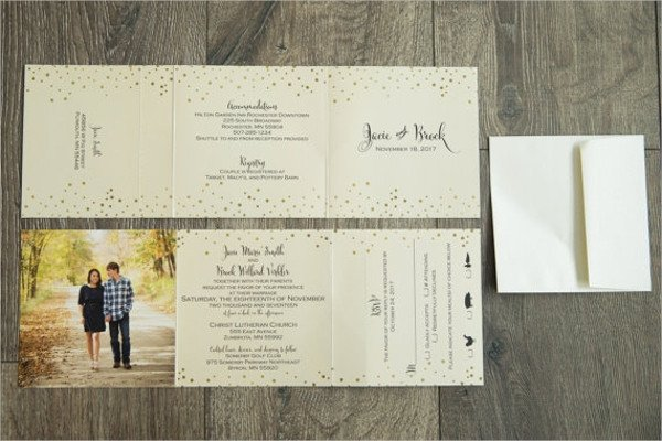 Tri Fold Invitation Templates 22 Wedding Invitations