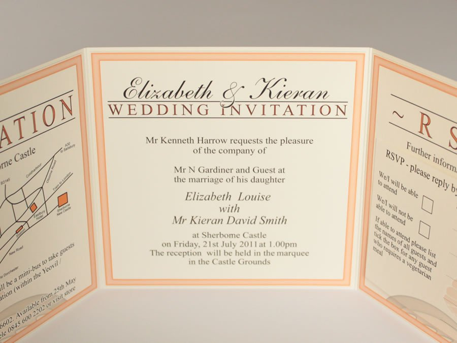 Tri Fold Invitation Templates Tri Fold Wedding Invitations Template