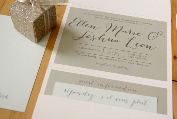 Tri Fold Invitations Template 12 Tri Fold Wedding Invitation Templates Psd