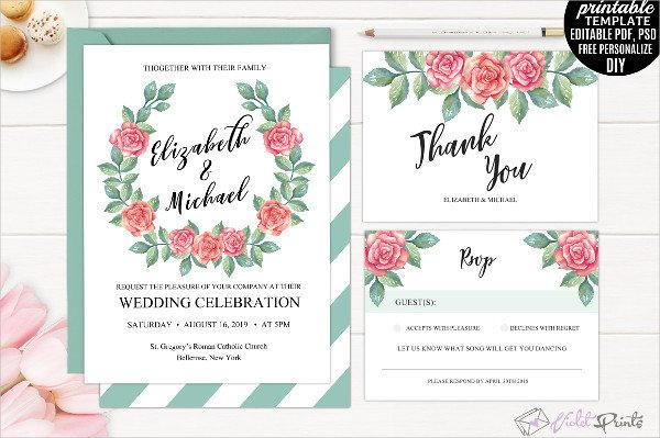 Tri Fold Invitations Template 17 Tri Fold Wedding Invitation Templates Free & Premium