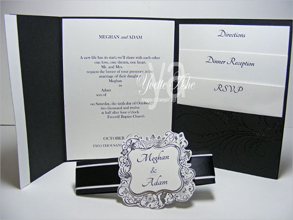 Tri Fold Invitations Template 18 Tri Fold Wedding Invitation Templates Free & Premium