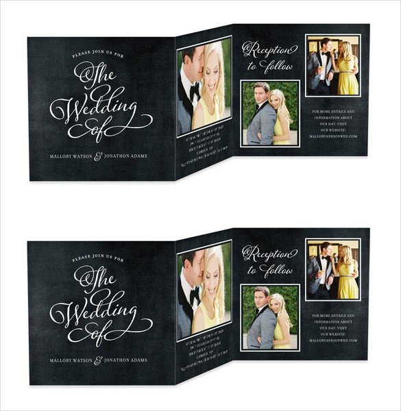 Tri Fold Invitations Template 19 Trifold Wedding Invitation Templates – Free Sample