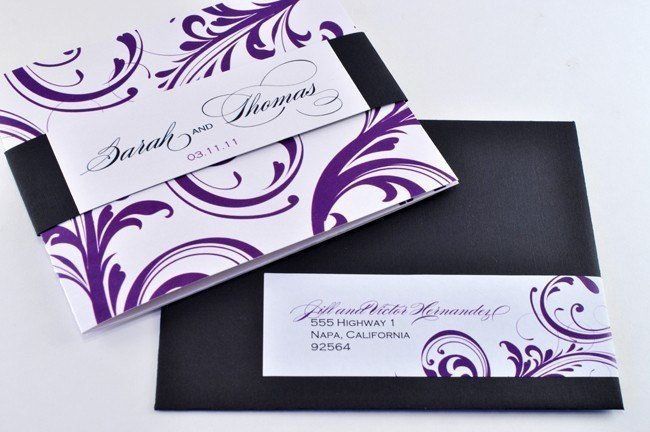 Tri Fold Invitations Template New Elegant Tri Fold Wedding Invitation with Perforated Rsvp