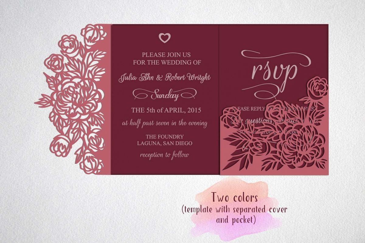 Tri Fold Invitations Template Tri Fold Wedding Invitation Template Sv