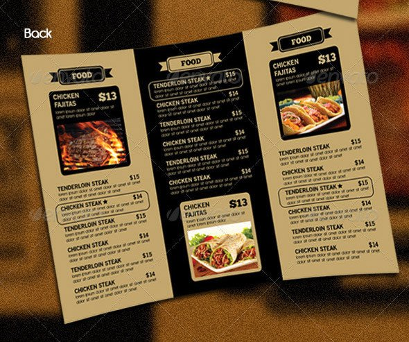 Tri Fold Menu Templates 14 Great Tri Fold Restaurant Menu Psd Templates – Design