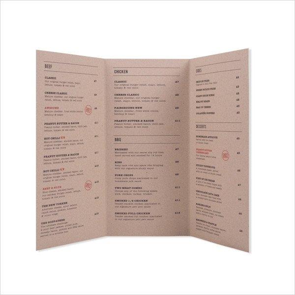 Tri Fold Menu Templates 23 Menu Templates Ai Psd Docs Pages In Design