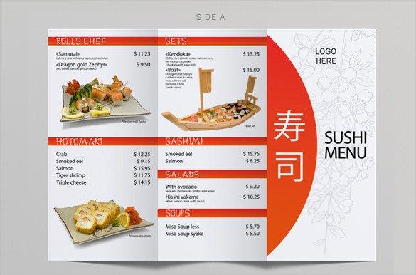 Tri Fold Menu Templates 51 Restaurant Menu Templates Design Psd Docs Pages