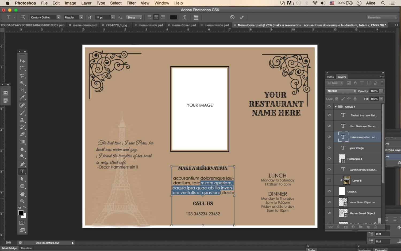 Tri Fold Menu Templates Design & Templates Tri Fold Take Out Menu Menu Templates