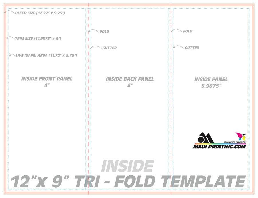 Tri Fold Table Tent Template Tent Fold & Tri Fold Table Tent Template Word Folding