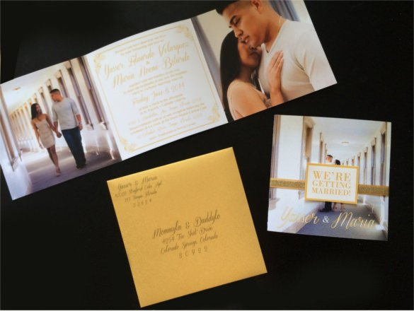 Tri Fold Wedding Invitations 19 Trifold Wedding Invitation Templates – Free Sample