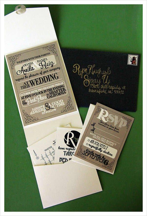 Tri Fold Wedding Invitations 70 Wedding Invitation Designs Word Psd Ai Indesign