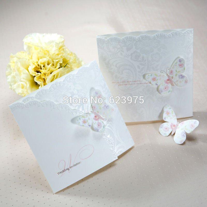Tri Fold Wedding Invitations Invitations Spring butterfly Tri Fold Wedding Invitation