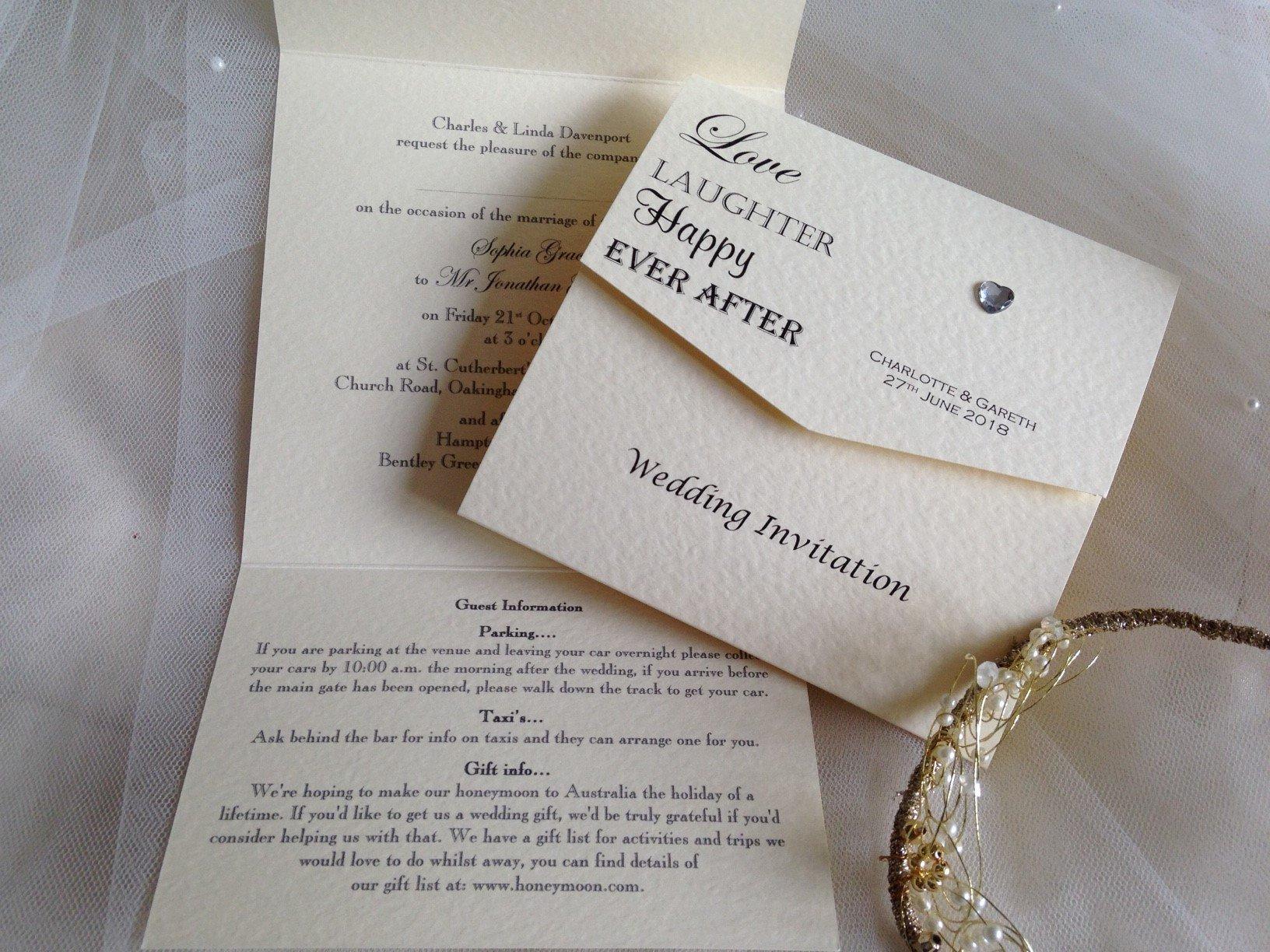 Tri Fold Wedding Invitations Love Laughter Tri Fold Wedding Invitations