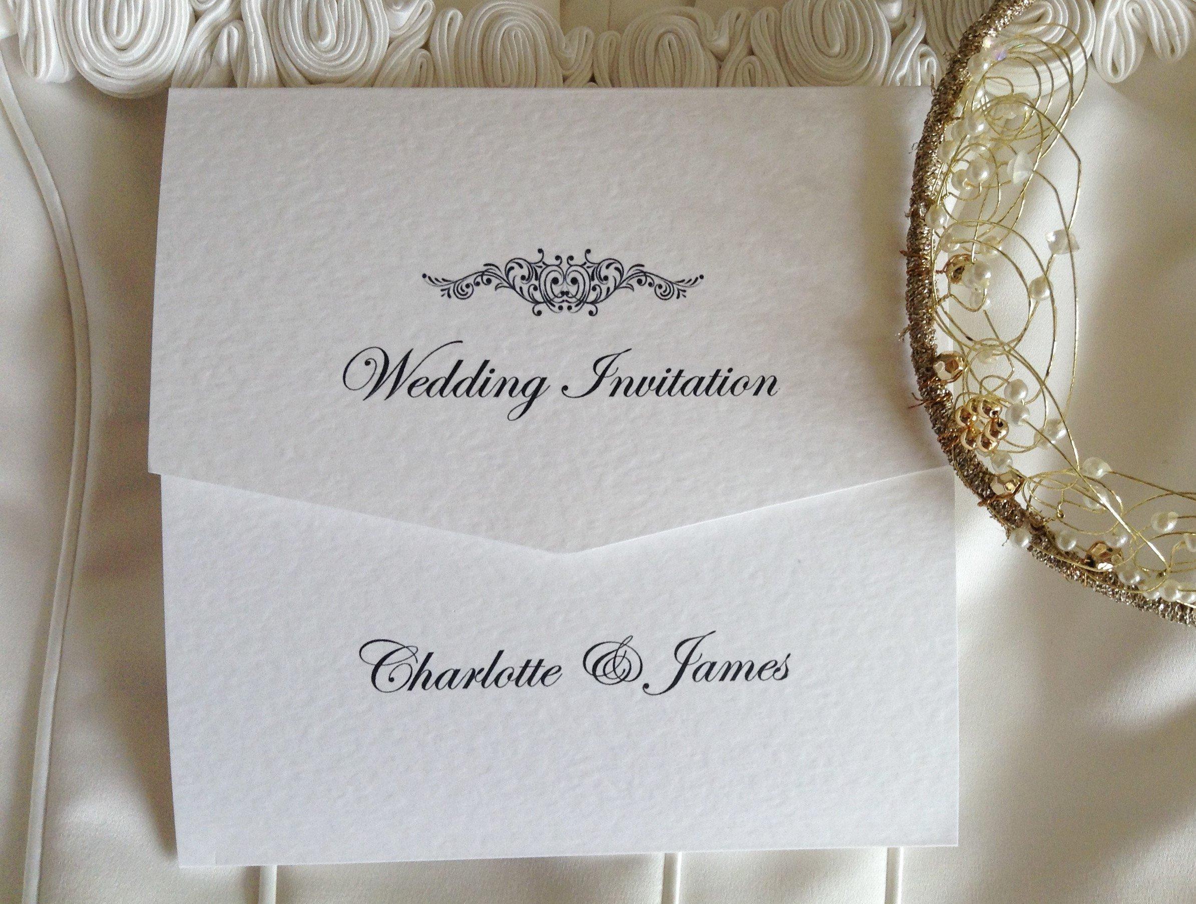 Tri Fold Wedding Invitations Motif Tri Fold Wedding Invitations