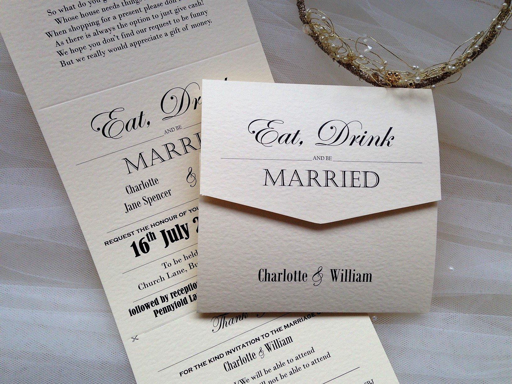 Tri Fold Wedding Invitations Vintage Tri Fold Wedding Invitations