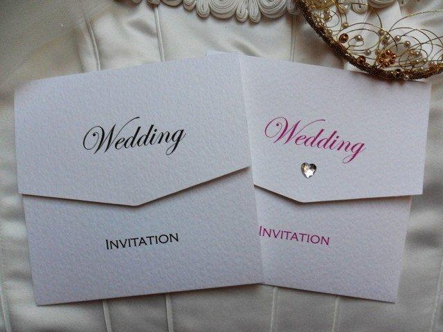 Tri Fold Wedding Invitations Wedding Invitations In Black or Pink Edw More Tri