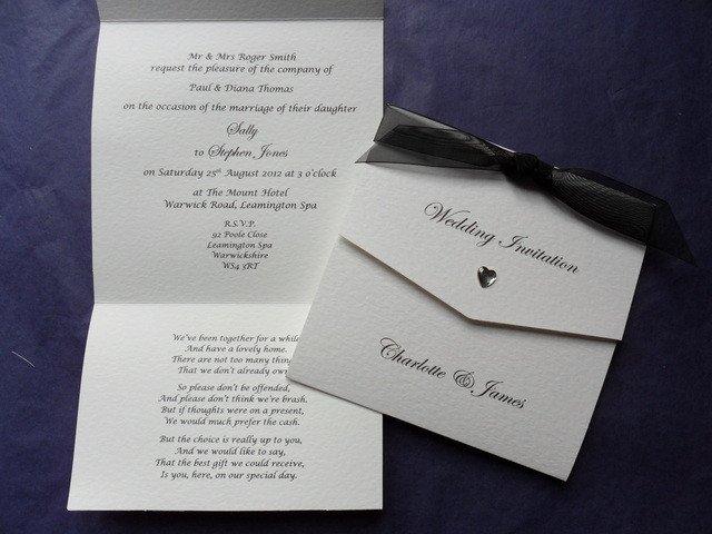Tri Fold Wedding Invitations White Tri Fold Wedding Invitation with Bl More