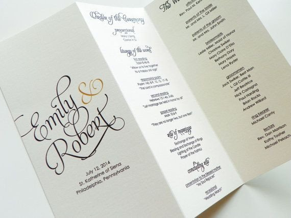 Tri Fold Wedding Program Template 25 Best Ideas About Wedding Church Programs On Pinterest