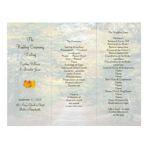 Tri Fold Wedding Program Template Back Road Tri Fold Wedding Program Template Letterhead