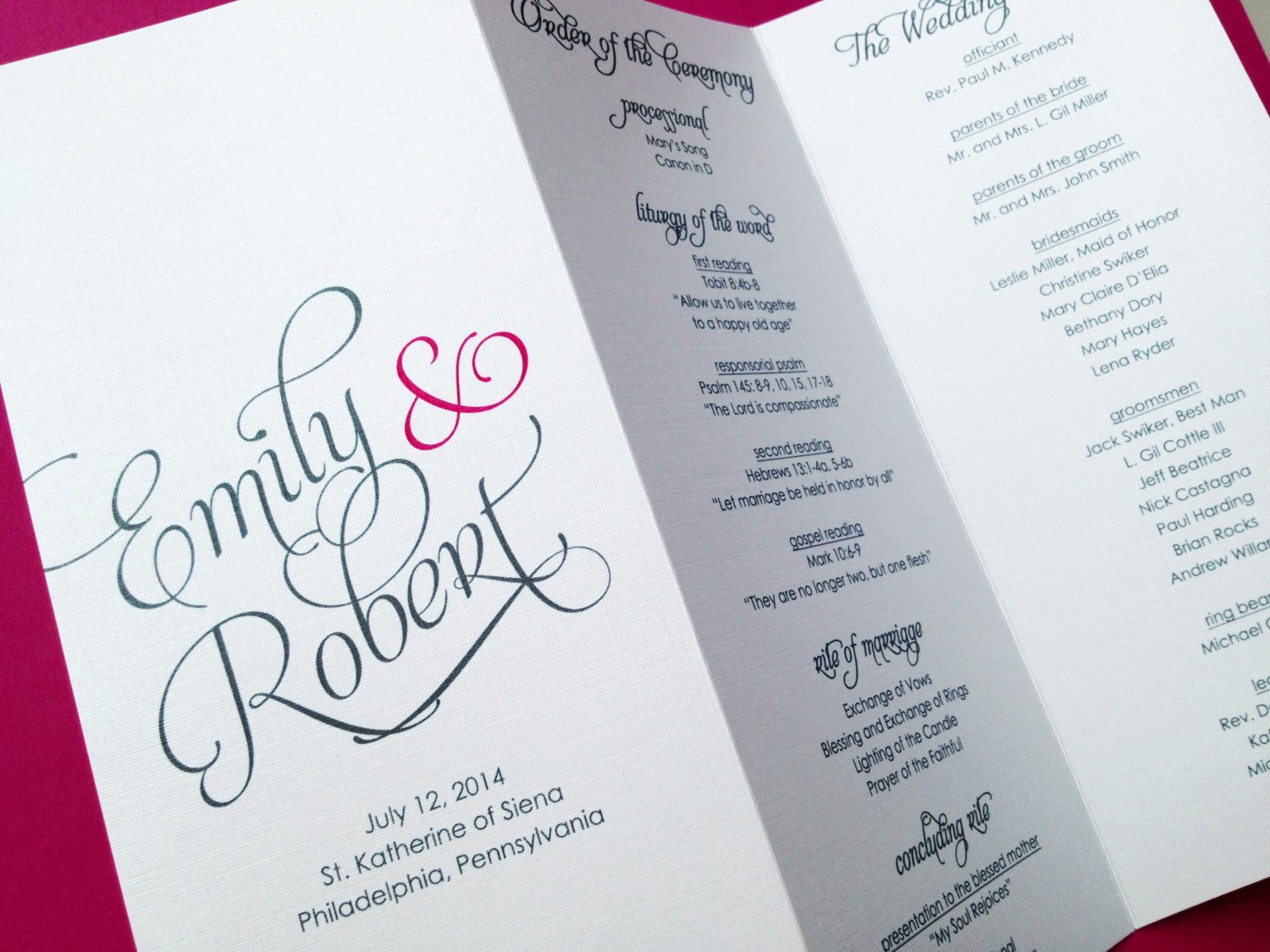 Tri Fold Wedding Program Template Wedding Programs Trifold Wedding Programs by