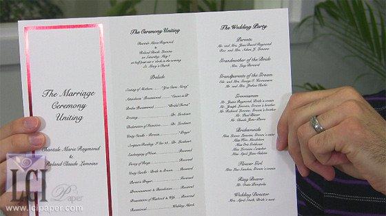 Tri Fold Wedding Programs Templates Foil Border Wedding Programs