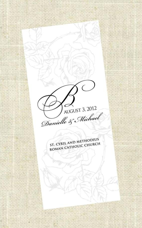 Tri Fold Wedding Programs Templates Tri Fold Printable Wedding Program